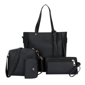 Composito sacchetti delle signore femminile del Tote della borsa della donna del messaggero di spalla della signora della borsa di frizione di giorno sacchetto di mano Set Q1105