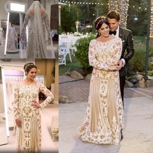 Plus Size Sheath Wedding Dresses Ivory Lace Champagne Linning Boho Wedding Gowns Long Sleeves Zipper Back Bride Vestidos De Novia