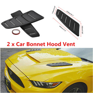 2x Universal Black ABS Plastic Car Air Flow Intake Scoop Bonnet Vent Hood Cover