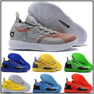 New KD 11 Gold Splatter KD Paranoid Twilight Pulse Cool Grey Mens Kids Basketball Shoes Zoom Kevin Durant 11 Sport Shoes Sneakers