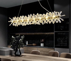 Роскошные современные люстры освещение для столовой новое поступление светодиодный кристалл лампы кухонный отель острова Lustre de Cristal