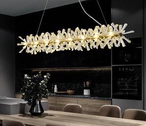 Luxury Modern Chandelier Lighting For Dining Room New Arrival LED Crystal Lamp Kitchen Island Decor Lustres De Cristal