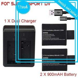Neue 900mAh-Wiederaufladbare + Dual-Ladegerät für SJ4000 SJ5000 SJ6000 SJ7000 WIFI Action Camera Batterie