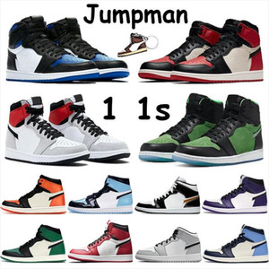 Jumpman 1 1S أحذية كرة السلة الألعاب الرياضية حذاء رياضة حذاء الجري للنساء الرياضة الشعلة هير لعبة الملكي الصنوبر الخضراء المحكمة 36-46