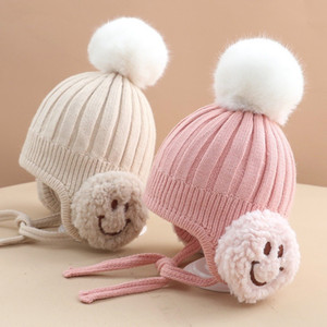 Новые дизайнеры зима милая шерстяная шапка младенца младенца шерсть теплая шапка младенца дети шансов шапки