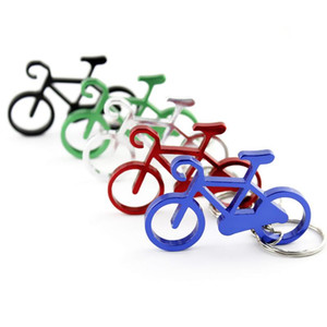 100pcs lot Free Shipping Bike Bicycle Mutilcolor Men Women Gift Keychain Keyring Key Chain Ring Wholesale Customized Logo 2020new
