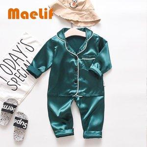 Новая детская осень пижама Взрыв медведь костюм Корейский стиль отдыха Tops Удобная Симпатичные пижамы наборы Мода 201104
