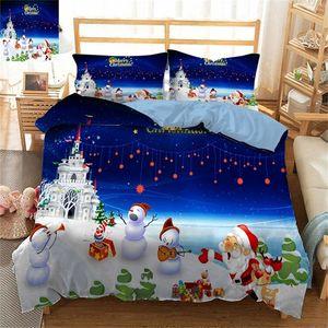 3D Bedsheet Duvet Bed Cover Fodera Decorazione Decorazione Biancheria da letto Set di Bely Christmas Queen Size Twin King completo King California King 201022