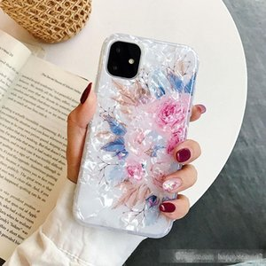 Flower Conch Cellphone Case Floral Cover for iPhone 11 Pro Max 11 XS Max XR 8 7 6 Plus Shell Full Protective