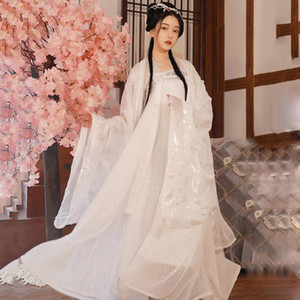 Ancient Fairy Princess DressTraditional Hanfu Folk Vintage Orient Tang Dynesty Cosplay Chinese Costume Stage Show Wear DN6048