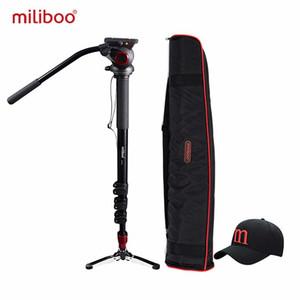 """miliboo MTT705A Алюминиевый портативный Fluid Головка камеры монопод для видеокамер / DSLR Stand Professional Video Tripod 72"""" Максимальная высота"""