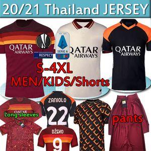 AS DE ROSSI 4XL Football ROMA DZEKO Zaniolo ROME totti PEROTTI 20 21 Maillot de football 2020 2021 hommes FEMMES uniformes kit enfants POLO PANTALON
