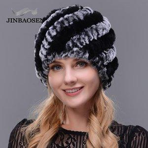 JINBAOSEN 2020 fourrure de mode féminine chapeau de fourrure à double bonnet chaud bonnet de ski touristique Voyage d'hiver naturel