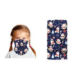 Bandanas 3D Kids Christmas Printed Tube Neck Warmer Magic Scarf Outdoor Balaclava Headscarf Halloween Children Face Shield Mask