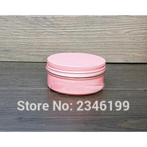 80G 80ML Aluminum Cream Jar, Pink Gold Color Cosmetics Packing Box, Tea Pot, Tin Can, 50pcs lot