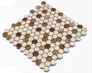 2021 hot sale Ceramic mosaic swimming pool hexagonal ceramic mosaic background porch bathroom background mosaic decorative painting