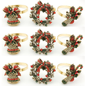 Christmas Napkin Rings Napkin Holders For Dinners Party Hotel Wedding Table Decoration Supplies Napkin Buckle 100pcs T1I3453
