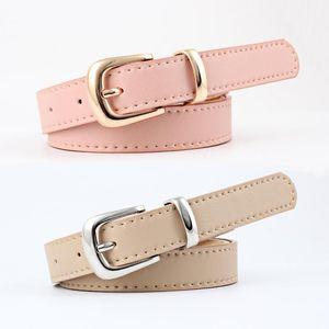 Top elegante Calçados Femininos Belt Para Mulheres fina da cor dos doces finos cinto ajustável Vestem Calças Jeans decorativa Atacado