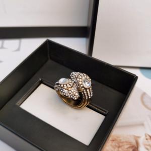 Designer Snake Snake Anneaux en acier inoxydable Rose Gold Couple Band Bagues Fashion Silver 18K Or Anneaux pour Femmes Hommes Bijoux