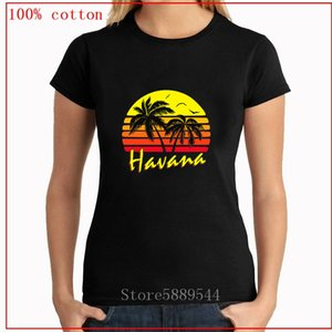 Party DJ Plus Size T-Shirt New Fashion Kuba Havana Tropical Sunset T-Shirt Hip Hop Classic Short Sleeve 100% Baumwolle T-Shirts