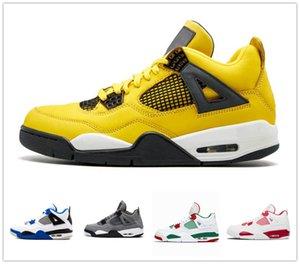 Mejor venta criado 4 4s hombres jumpman zapatillas de baloncesto Gris frío cemento blanco verde crecer Cavs tatoo truenos hombre estilista zapatos 40-47