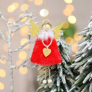 Weihnachten Winkel Anhänger Weihnachtsbaum Hängen Drop Ornament Puppe Dekoration für Home Anhänger Geschenk Neues Jahr Navidad Party Supplies EWD2122