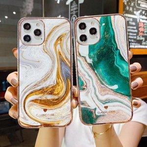 الرخام الهاتف القضية لابل اي فون 11 12 برو XS SE 2020 12 7 8 زائد X XS XR حالة شفاف اللون تغطية واضحة وكاملة ماكس البسيطة