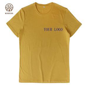 Mindygoo Yüksek Kalite Toptan OEM Özel Logo Spor Koşu Dipleri Ucuz 2020 Yeni Tasarımcılar Rahat Kırpma Üst Artı Boyutu Erkekler T Gömlek