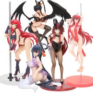 Anime High School DxD action figure bunny girls Rias Gremory Himejima Akeno Swimwear Ver. 1 12 scale PVC Figure Model Toy LJ200924