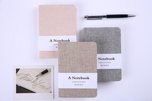 Wholesale A5 A6 Linen Notebook Fabric Cover Journal Notepand Diary Book Stationery Notebook Blank Line Paper Notebook