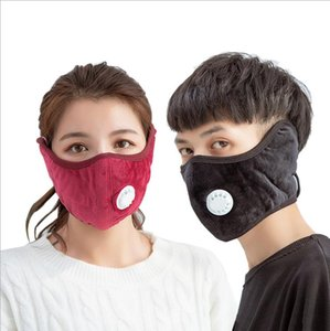 Face Mask With Breathing Valve 2 in 1 Ear Puffes Masks Outdoor Cycling Protective Masks Unisex Washable Winter Warm Mouth Cover DWC3101
