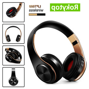 Bluetooth gaming Headphones Over-Ear Wireless Headphones Foldable stereo Earphone Headset with Mic support TF card FM for PC Music MP3