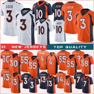 30 Phillip Lindsay 55 Bradley Chubb 4 Keenum 13 Siemian 14 Courtland 5 Flacoo 2021 Top Football Jersesie 10 Jerry Jeudy 3 Drew Lock