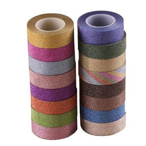 Washi Paper Glitter 10m Sticky Masking Adhesive Tape Label Diy Craft Decorative for Wedding Birthday Card Stickers Fish Wall Decals Bde