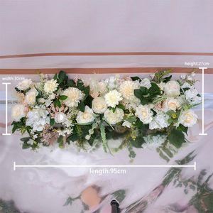 DIY 95cm wedding flower decor for iron arch artificial flower arrangement supplies Road lead cited Row Window T station