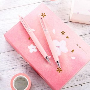Gel Pens 1 Pcs Pink Pen 0.5MM Girls Good-looking Office Sign Writing Black High Density Material H37091