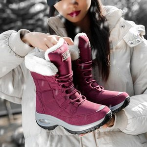 Akexiya Quality Waterproof Winter Women Boots Keep Warm Mid-Calf Snow Boots Ladies Lace-up Comfortable Chaussures Femme #Kw7t