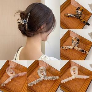Mujer acetato leopardo pelo garras damas horquillas horquillas pelo cabello cabello accesorios de pelo barrettes damas clips de pelo