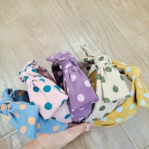 New Designer Dot Bowknot Headband Fashion Hair Hoop Hair Clasps Fashion Hair Jewelry Free Shipping