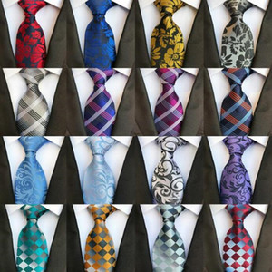 Hommes Silk ties fashion Hommes Crousel Cravate Mariage Cravate Cravate Marche Angleterre Paisley Cravate Stripes Plaids Dots Craviche WY1131