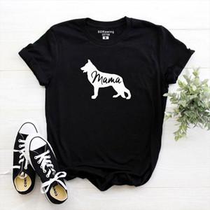 Regalo per il cane amanti T shirt pastore tedesco Shirt Pet Lover Cane regalo mamma Amante degli animali Proprietario Mama Tops signore