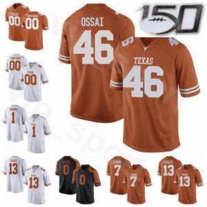NCAA College Texas Longhorns Football 13 Brennan Eagles Jerseys costurados 46 Joseph Ossai 7 Caden Sterns 1 Chris Adimora 0 Tarik Black Burnt