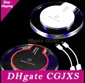 Cristal Qi Chargeur sans fil Portable chargeur sans fil Qi charge standard Dock de recharge Pad Récepteur chargeur sans fil