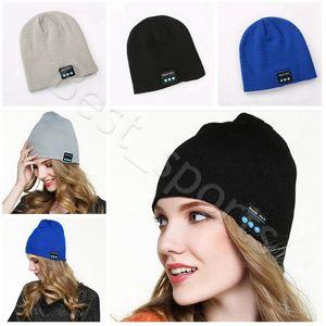 Bluetooth Headset Hat Music Beanie Cap 22*21.5cm Wireless Smart Music Outdoor Sports Winter Warm Knitted Caps CYZ2867