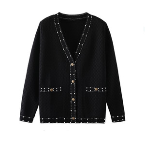2021 Mode Femmes Designers Femmes Pull Femmes Pull de Luxe Design Cardigan Bouton Pull Small Fragrance Retro Fashion Runway Pull