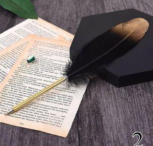 Ostrich Feather Quill Ballpoint Pen For Wedding Signature Birthday Party Gift Home Decora wmtnlT dh_garden