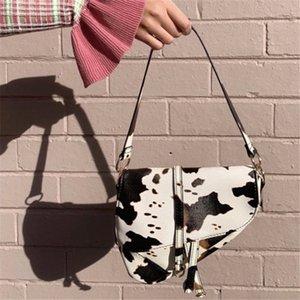2020 new Armpit bag cow pattern fashion trend one-shoulder saddle bag retro crossbody portable small bag