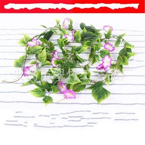 Высокое симулятор шифрования цветовой лозы утренняя слава листьев висит виноградные лозы Home Furnishing украсить популярные продажи хорошо с различным стилем 6CZ J1