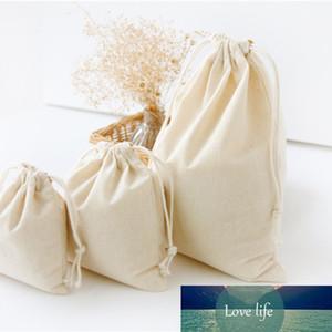 DIY viaje algodón de lino con cordón bolsas de almacenamiento de artículos diversos pequeño haz de cuerda hecha a mano bolsas de té de caramelo del bolso del regalo de los niños juega al organizador