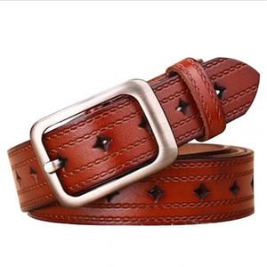 JXQBSYDK Cinturones de lujo para mujeres Moda Cinturones de cuero de alta calidad Pin Hebilla Cinturones de cintura J1209
